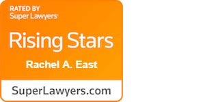 Rachel East Rising Star badge